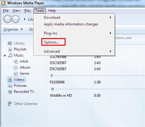 add codecs to Windows Media Player 1