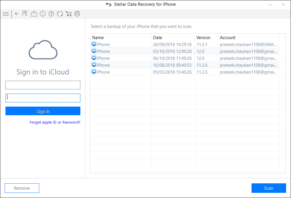 recover from iCloud Backup 1