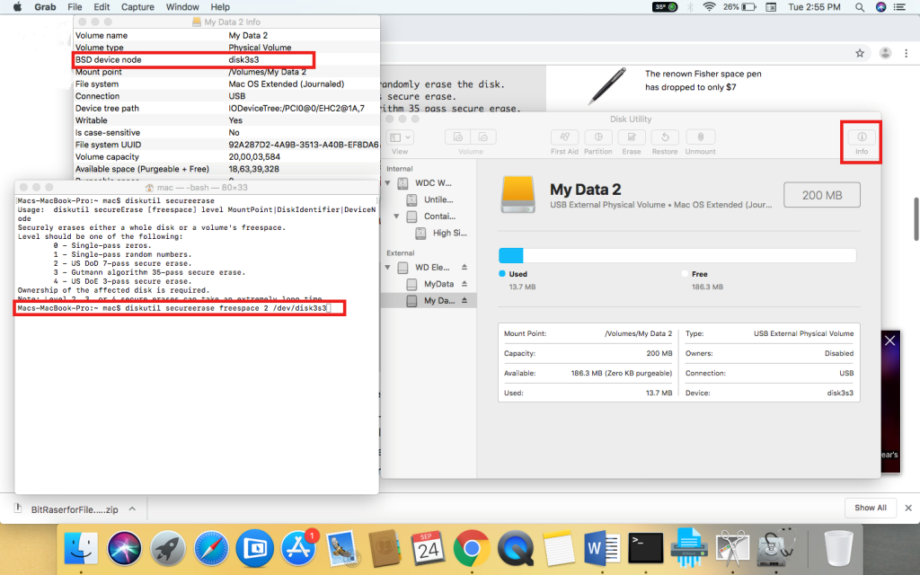 How to delete mac hard drive without disc brakes