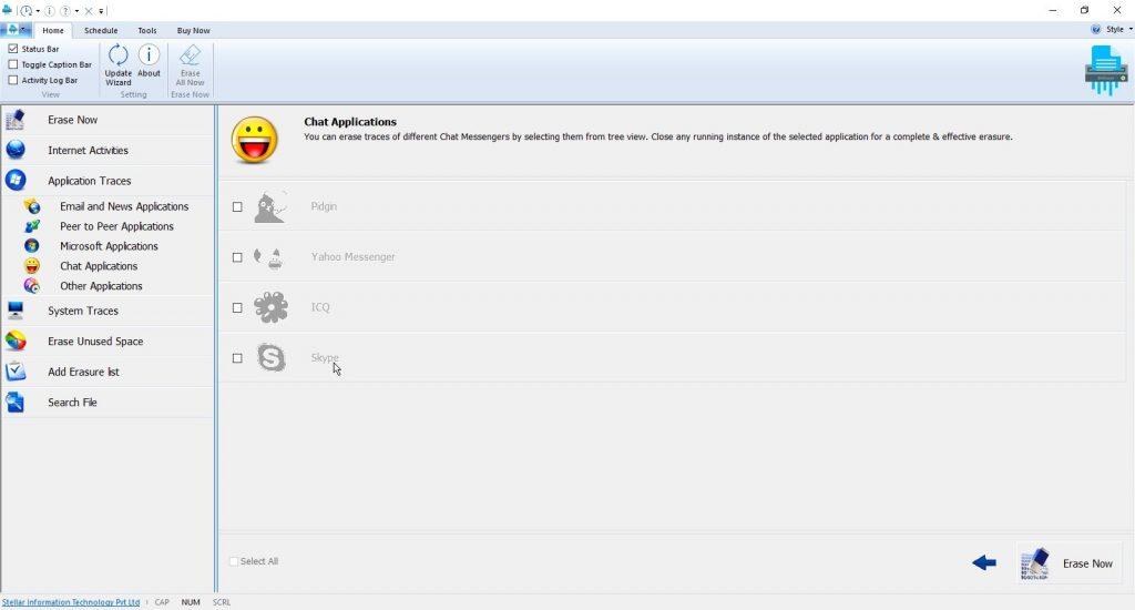 Delete Skyp Files