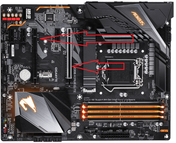 PCI slot of Nvidia graphics card