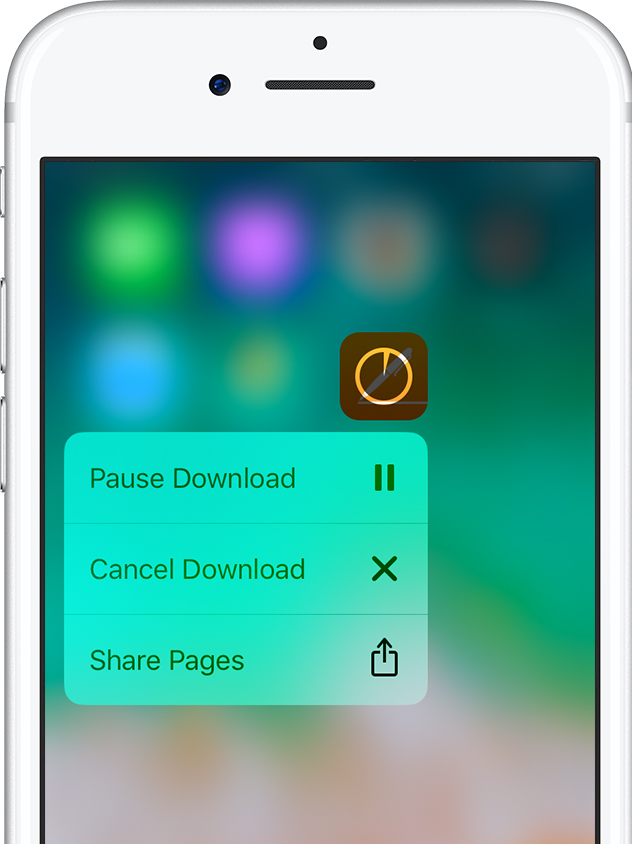 Pause and restart the app download on iPhone