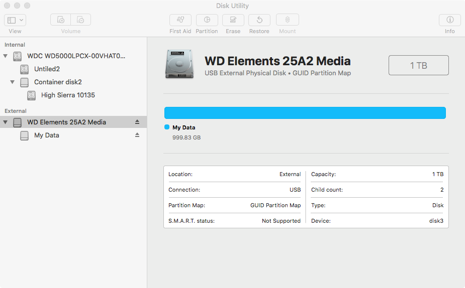 WD Element Mac