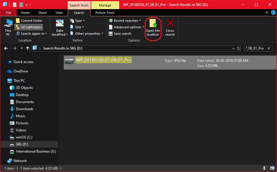 Lightroom Classic - Open File Location