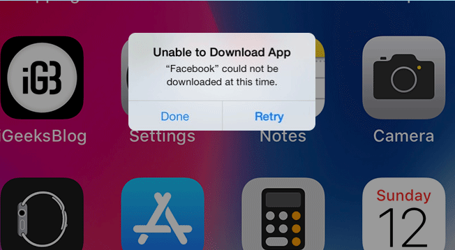 can't download apps in iPhone