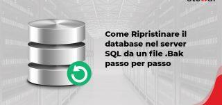 Come Ripristinare il database nel server SQL da un file .Bak passo per passo