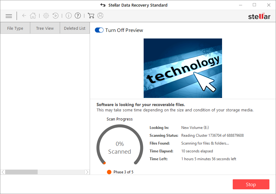 Scanning Drive for Data Recovery