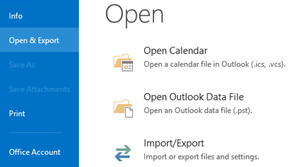 File and Open & Export