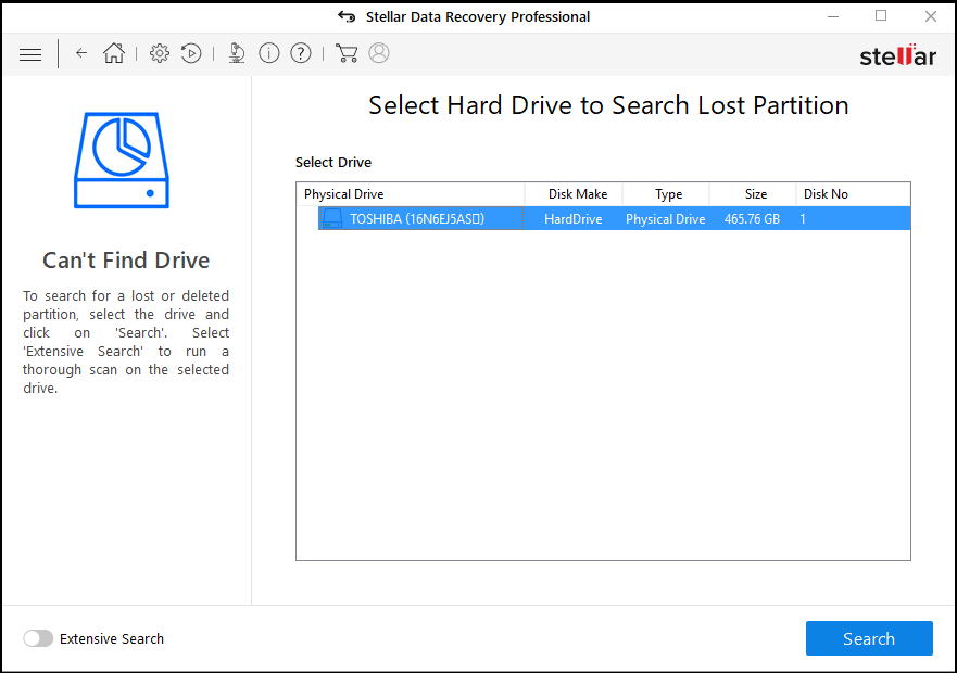 sdr pro can't find drive