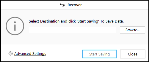 save recovered data