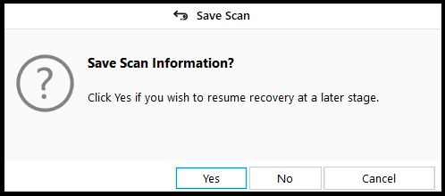 Save Scan Info