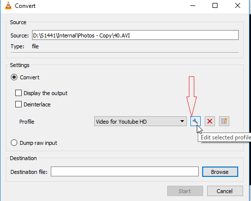 Edit Icon Settings-VLC Media Player