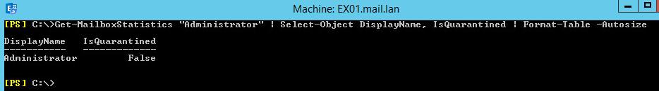 Get-MailboxStatistics user01