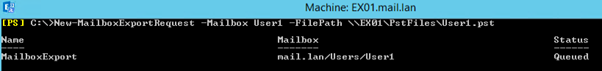 mailbox or file path