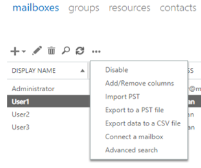 New-MailboxExportRequest -Mailbox User