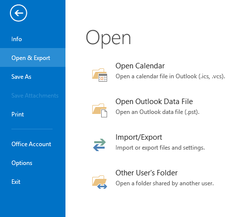 export OST to PST via Outlook account