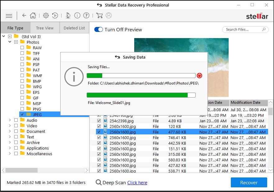 sdr pro saving deleted data