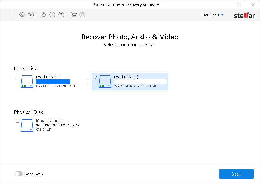 Stellar Photo Recovery Standard Software for Windows