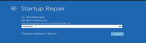 Automatic repair screen