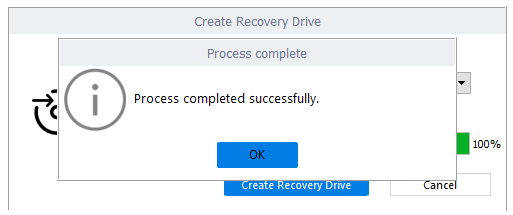 Crate Recovery Drive done successfully.