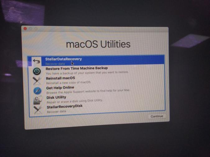macOS Utilities window