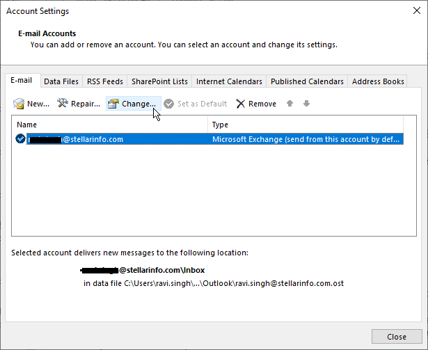 Change the Offline Settings in MS Outlook