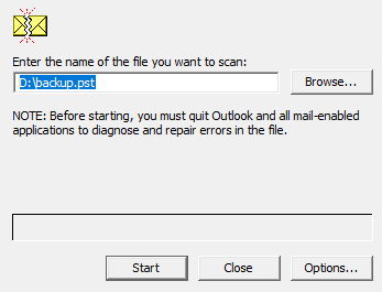 Browse Outlook Data File (PST)