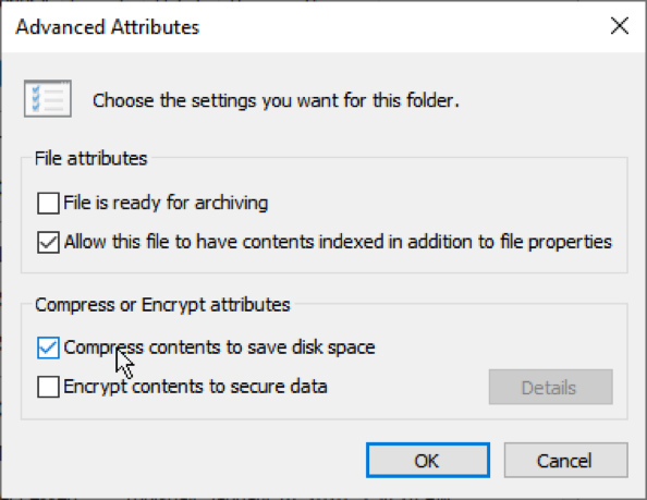 Advanced attributes of PST file
