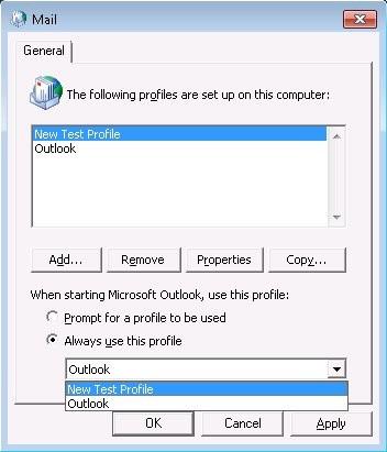 kernelbase.dll error, create new profile
