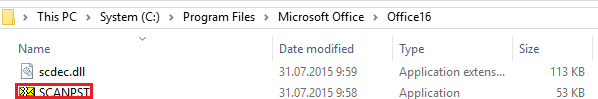 Double-click the ScanPST.exe file to launch it