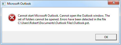 Outlook Error: Cannot start Microsoft Outlook. Cannot open the Outlook Window