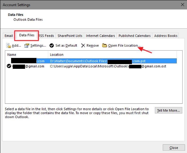click 'Open File Location