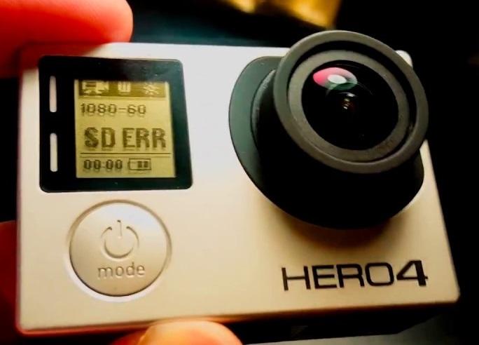 SD ERR on GoPro HERO 4