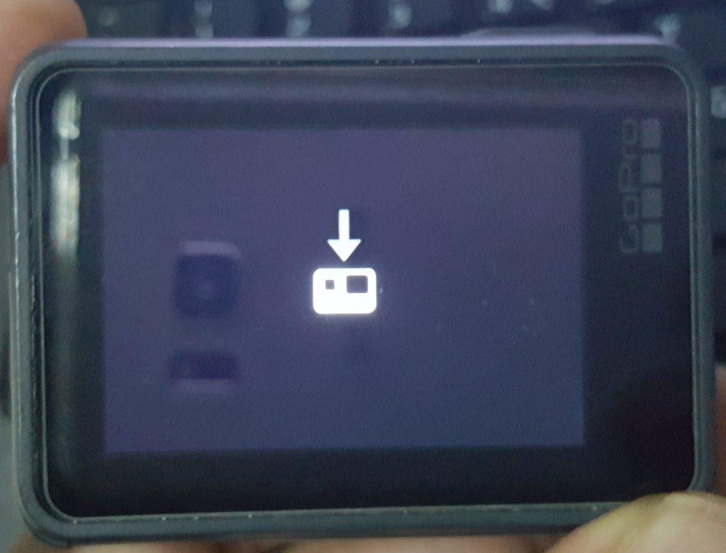GoPro Update mode screen