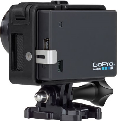 GoPro camera with BacPac
