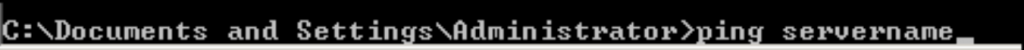 Command to check network connection