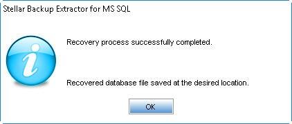 Saving complete of SQL backup file