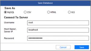 Saving file saving options