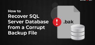Recover sql database from corrupt backup file