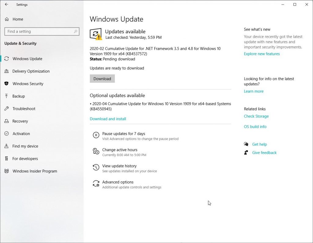 Enable Automatic Windows updates