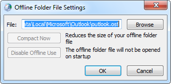 Move the ost-file to another disk or folder location