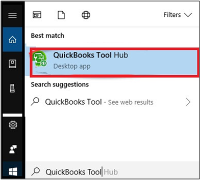 search for QuickBooks Tool Hub