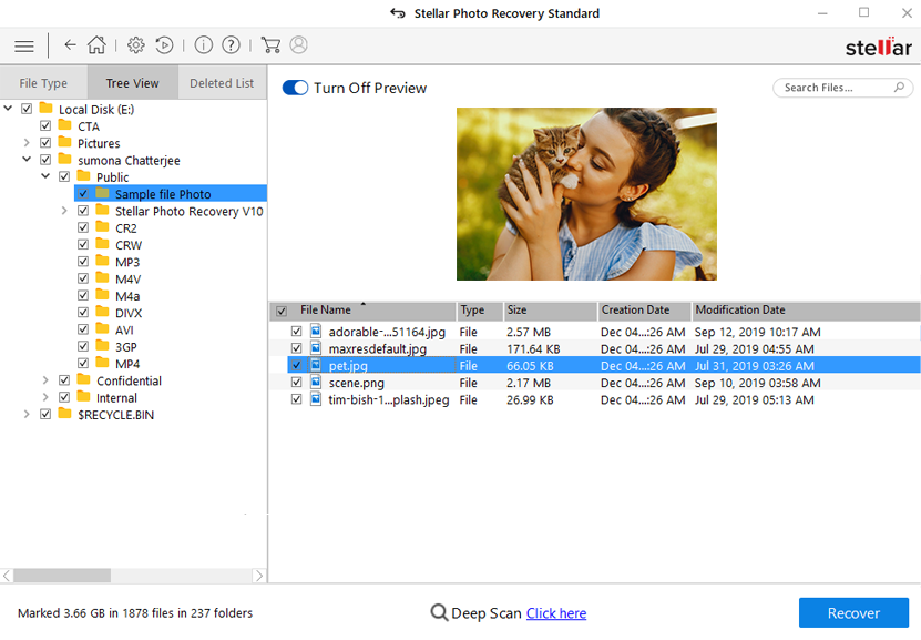 Stellar photo recovery preview  screen1 usb recovery