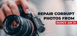 REpair corrupt Sony alpha 9II photo