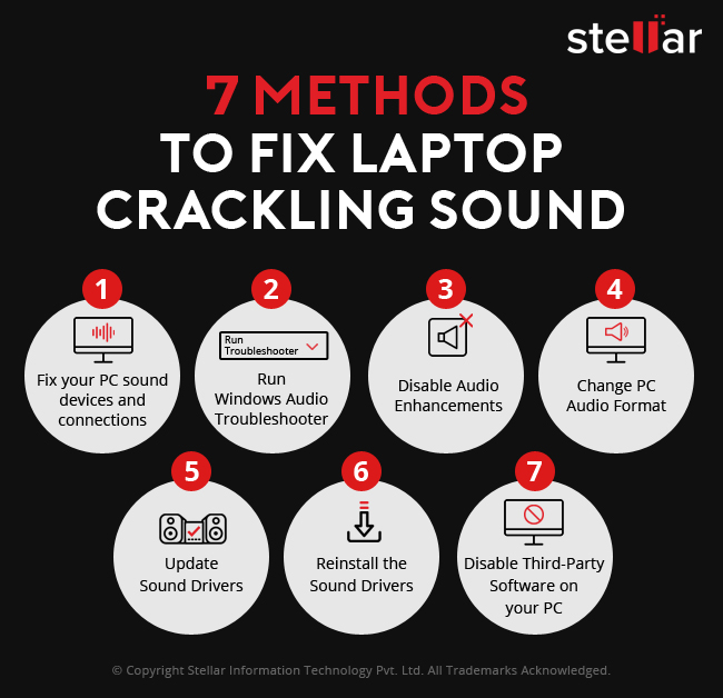 how to fix crackling speakers sound on laptop PC