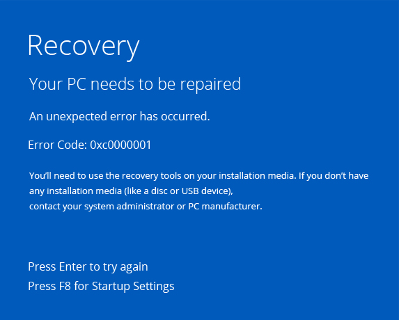 error-code-0xc0000001