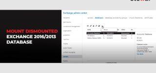How to Mount Dismounted Exchange 2016/2013 Database?