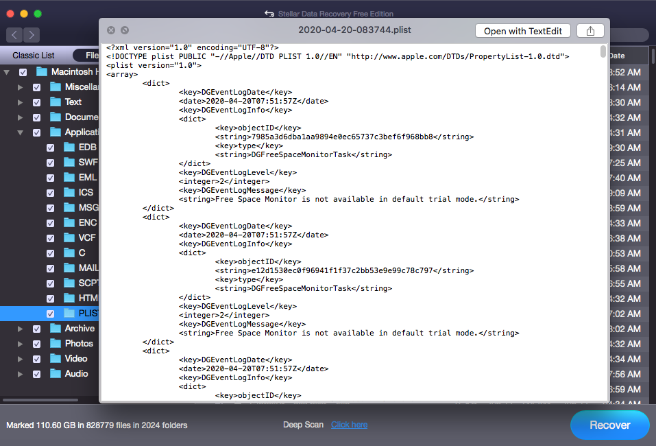 Preview Safari Browser History