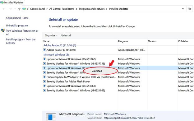 uninstall-windows-problematic-update