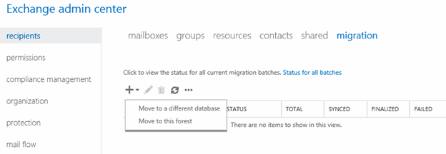 Move to a different database